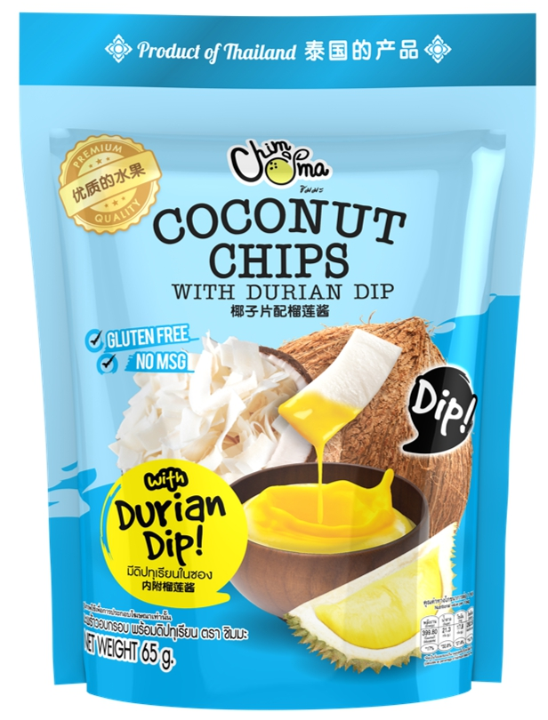 Coconut Chips with Durian Dip
