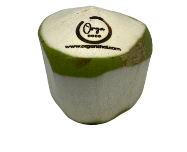 Nam-Hom Coconut with LOGO (Diamond shape green ring with hot stamp)